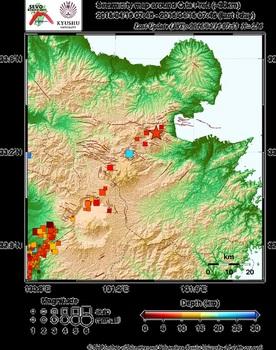 九州大学 地震火山観測研究センター 大分県周辺の震央分布図 最新24時間 4月16日7時53分時点.jpg