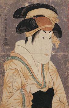 東洲斎写楽「三代目瀬川菊之丞の田辺文蔵女房おしづ」(1794).jpg
