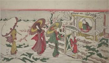 勝川春扇「やつし玄徳雪中訪孔明」(1806~20).jpg