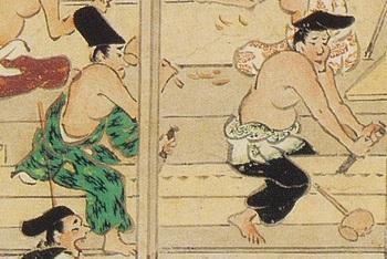 材を割る(石山寺絵巻).jpg