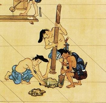礎石を据える(春日権現験記絵).jpg