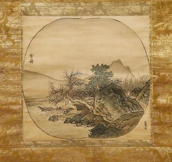 雪舟「倣夏珪山水図」.jpg